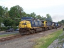 CSX empty coal train E747 passing through Magnolia NJ on May 21, 2007.