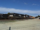 NS 7539 and NS 9554 power CA-11 as it passes the new concrete facility at Deepwater on October 18, 2008.