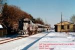Atlantic City Line train at Berlin, NJ in 2003.  By Tom Duke.