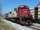 SOO SD60 6031 is at Pureland Industrial Park in Bridgeport NJ, on the front of an ethanol unit train. Photo 4/16/2009 by Thomas Duke.
