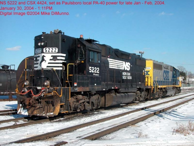 Units at Paulsboro, NJ in 2004.  By Mike DiMunno.