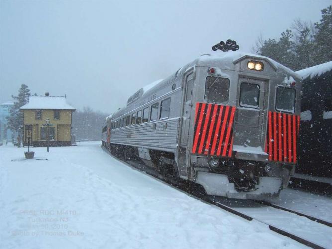 PRSL RDC M-410 at Tuckahoe, NJ on Jan 31, 2010. Photo by Thomas Duke.