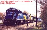 Train of Locomotives at Paulsboro, NJ.