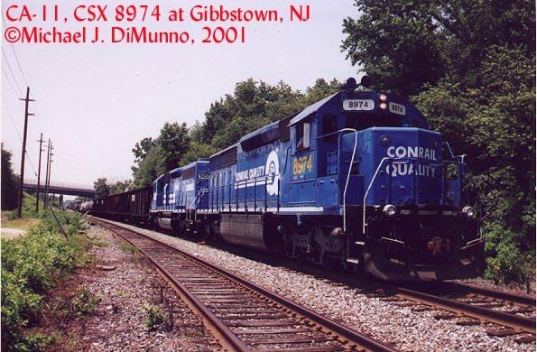 CA-11 northbound at Gibbstown, NJ.