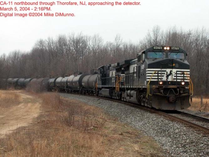 CA-11 northbound at Thorofare, NJ.