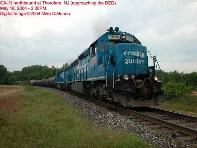 CA-11 northbound with SD45-2's at Thorofare, NJ.