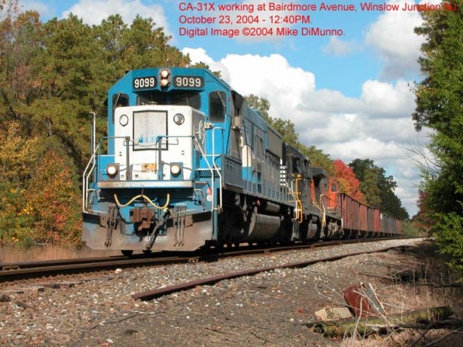 CA-31X with EMD leader unit working at Winslow, NJ.