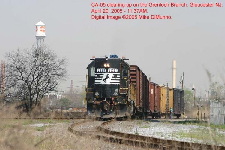 CA-05 diverging onto the Grenloch Branch.
