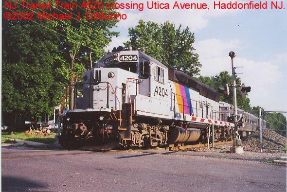 NJT Train 4620 crossing Utica Avenue.