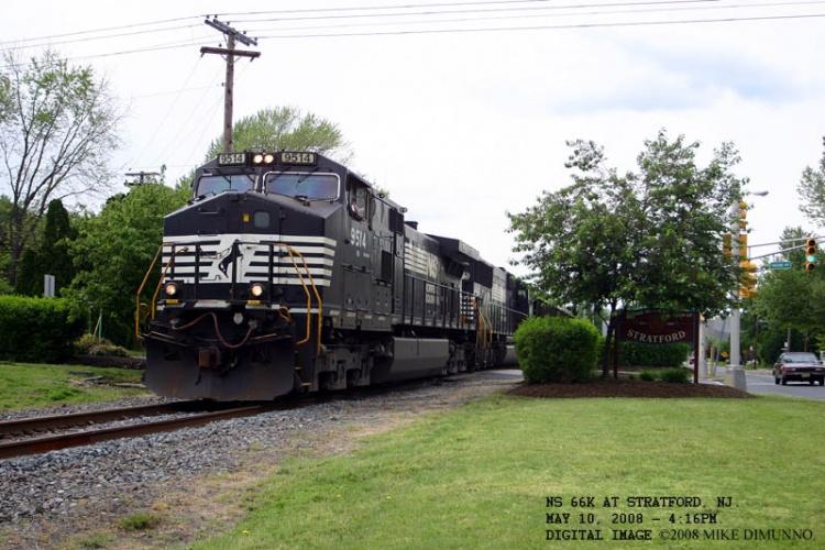 NS 66K southbound at Vassar Avenue, Stratford NJ.