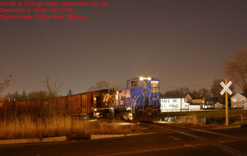 CA-05 at Collings Rd. under cover of darkness on December 2, 2004.
