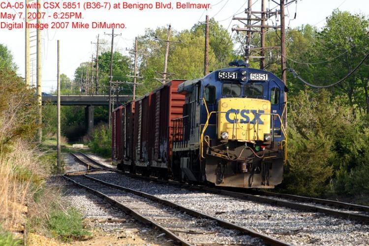 CA-05 with a B36-7 at Bellmawr, NJ.
