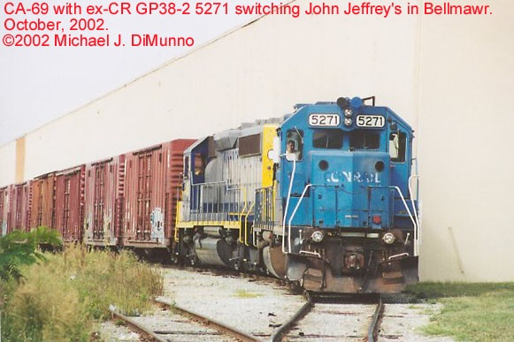 CA-69 switching John Jeffrey's, Bellmawr, NJ.