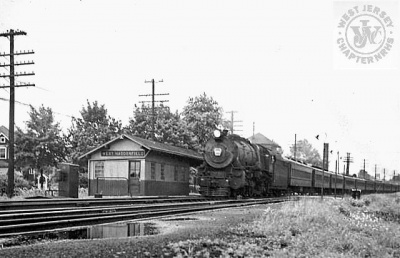 PRR K4s #277 at West Haddonfield 1946
